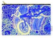 Biking Blue Carry-all Pouch