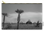 Biloxi Schooner Pier In Black And White Carry-all Pouch