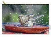 Bird In A Bath Carry-all Pouch