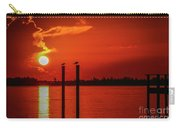 Bird On A Pole Sunrise Carry-all Pouch