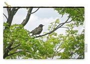 Bird Resting On Branch Carry-all Pouch