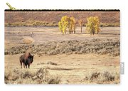 Bison And Cottonwoods Carry-all Pouch