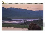 Bison At Sunrise Carry-all Pouch