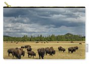 Bison In Yellowstone Carry-all Pouch