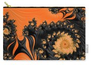 Black And Orange  Swirls Carry-all Pouch