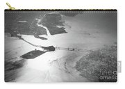 Black And White Aerial View Of Downtown San Francisco With Sun R Carry-all Pouch