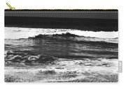 Black And White Beach 7- Art By Linda Woods Carry-all Pouch