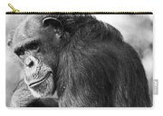 Black And White Chimp Carry-all Pouch
