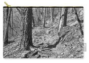 Black And White Mountain Trail Carry-all Pouch