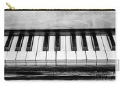 Black And White Piano Carry-all Pouch