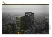 Black And White Tokyo Skyline At Night With Vibrant Selective Yellow Colors Carry-all Pouch