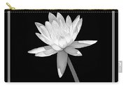 Black And White Water Lily Carry-all Pouch