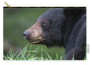 Black Bear Amongst The Grass Carry-all Pouch