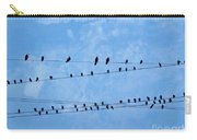 Black Birds On Crossed Wires Carry-all Pouch