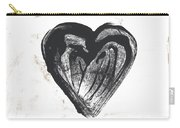 Black Heart- Art By Linda Woods Carry-all Pouch