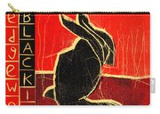 Black Ivory Rabbit Carry-all Pouch