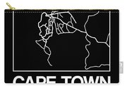 Black Map Of Cape Town Carry-all Pouch