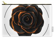 Black Rose - Black And Gold Rose - Death - Minimal Black And Gold Decor - Dark Carry-all Pouch