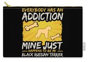 Black Russian Terrier Funny Dog Addiction Carry-all Pouch