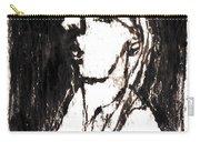 Black Side Portrait Carry-all Pouch
