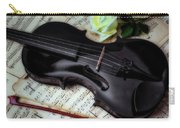 Black Violin On Sheet Music Carry-all Pouch