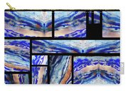 Blue Agate Mosaic Watercolor Collage Carry-all Pouch