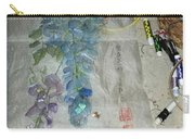 Blue Bird And Wisteria Carry-all Pouch