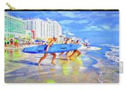 Blue Board Fast Into Ocean Carry-all Pouch