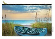 Blue Boat At Dawn Carry-all Pouch
