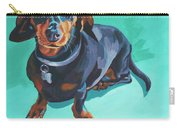 Blue Dachshund  Carry-all Pouch