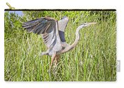 Blue Heron On The Rise Carry-all Pouch