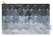 Blue Hexagons And Diamonds Carry-all Pouch by Elisabeth Fredriksson