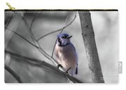 Blue Jay Carry-all Pouch by Dheeraj Mutha