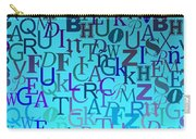 Blue Letters Over Blue Backlight Carry-all Pouch