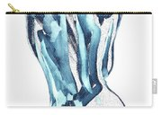 Blue Nude Woman Model Gesture Watercolor Xxxviii Carry-all Pouch