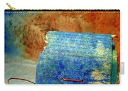 Blue Signature Altered Book Carry-all Pouch