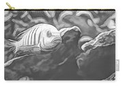 Blue Zebra Above Cave Art Sketch Carry-all Pouch by Don Northup