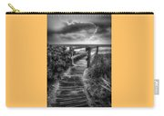 Boardwalk To The Sea In Radiant Black And White Carry-all Pouch