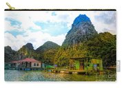 Boat People Homes On Gulf Of Tonkin Ha Long Bay Vietnam Carry-all Pouch
