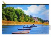 Boats At The Ferry Crossing Painting Carry-all Pouch