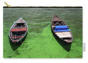 Boats On Algae, In Santarem, Brazil. Carry-all Pouch