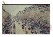 Boulevard Montmartre - Afternoon, In The Rain, 1897 Carry-all Pouch