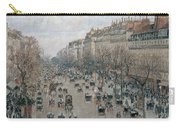 Boulevard Montmartre - Afternoon, Sunlight, 1897 Carry-all Pouch