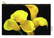 Bouquet Of Yellow Calla Lilies Carry-all Pouch