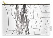 Boy On The Street Pencil Drawing Carry-all Pouch