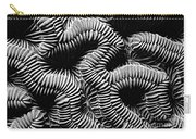 Brain Coral In Macro Bw Carry-all Pouch