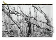 Branches In Black And White Carry-all Pouch