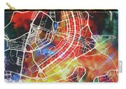 Brasilia Brazil Watercolor City Street Map Carry-all Pouch