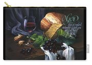 Bread And Wine Carry-all Pouch by Clint Hansen
