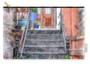 Brick Townhouse Walkup Watercolor Carry-all Pouch